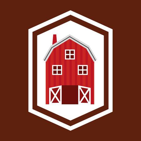 farm building: stable farm building icon vector illustration design