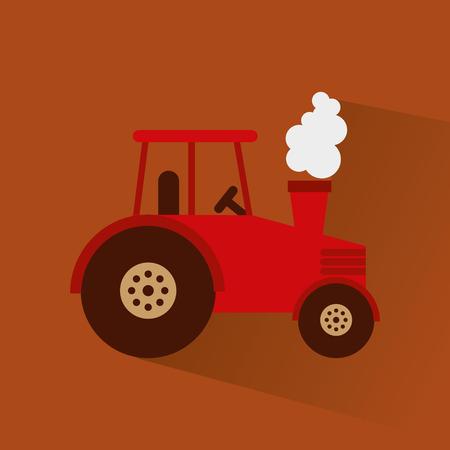 agronomy: tractor farm vehicle icon vector illustration design Illustration