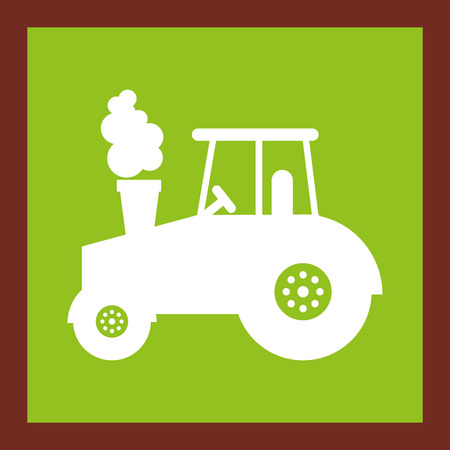 tractor farm vehicle icon vector illustration design Illustration