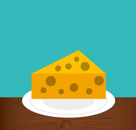 delicious cheese menu icon vector illustration design