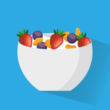 cereal bowl: cereal bowl menu icon vector illustration design