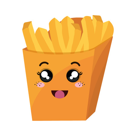 french fries  style vector illustration design