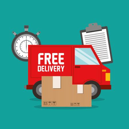 car delivery service icon vector illustration design Ilustração