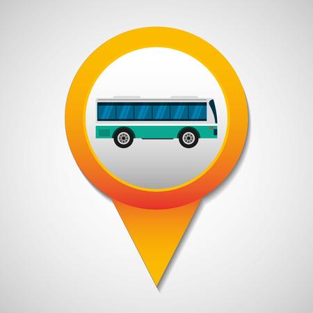transport bus vehicle icon vector illustration design Illustration