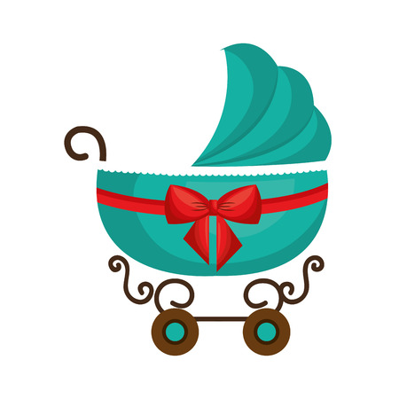 cute cart baby isolated icon vector illustration design