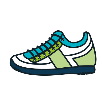 shoelace: tennis shoes sport isolated icon vector illustration design