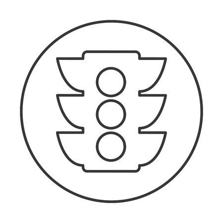 regulate: semaphore traffic isolated icon vector illustration