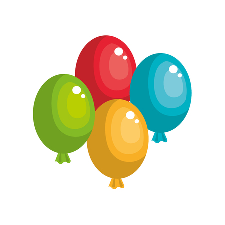 balloons air party isolated icon vector illustration design Illustration
