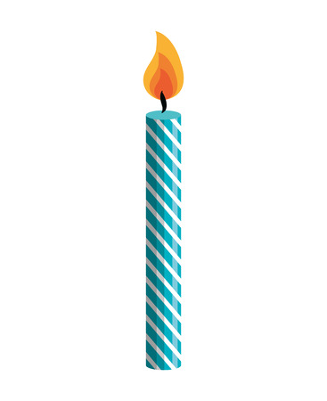 candle birthday isolated icon vector illustration design