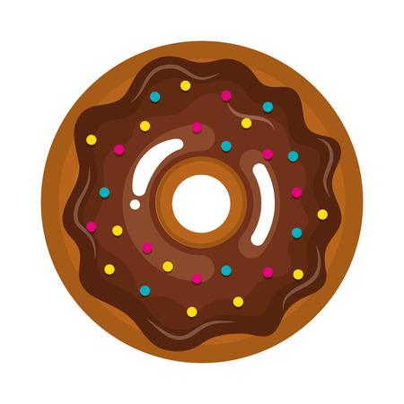 glazed: delicious sweet donuts icon vector illustration design Illustration