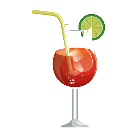 delicious tropical cocktail isolated icon vector illustration design