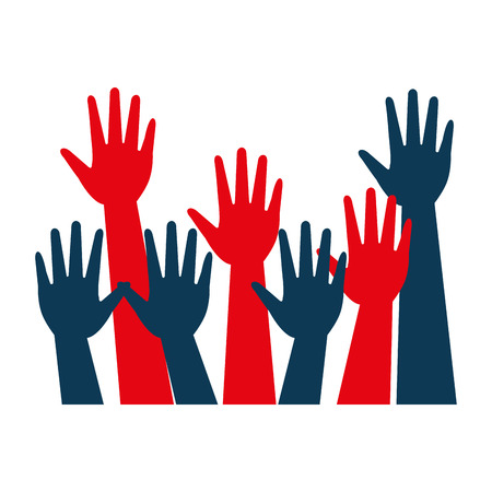 hands raised up election presidential