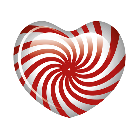 wrappers: sweet heart candy isolated icon vector illustration design