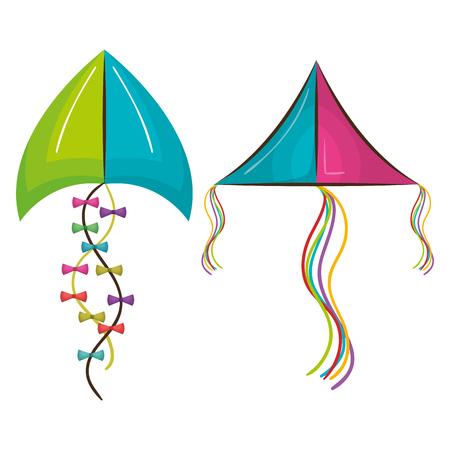 アイコン ベクトル イラスト デザインを飛ぶ凧グッズ  イラスト・ベクター素材