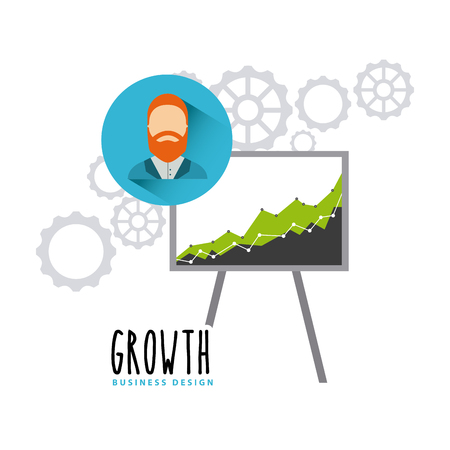 fondos negocios: Business growth funds flat icons vector illustration design Vectores