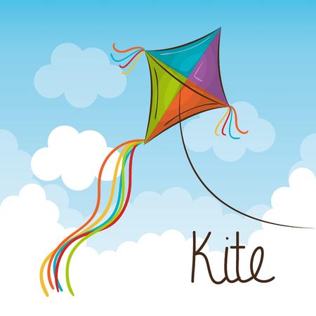 paper kites: kite toy flying icon vector illustration design
