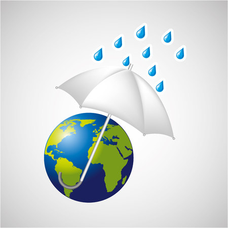 meteorologist: globe earth weather meteorology with rain