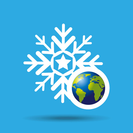 globe earth weather meteorology snow vector illustration eps 10