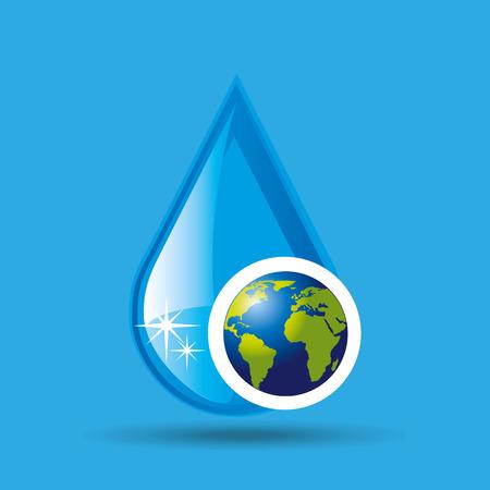 rain drop: globe earth weather meteorology drop rain vector illustration eps 10