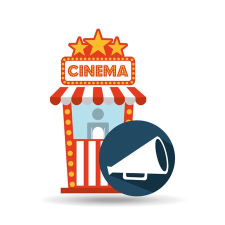 cinema movie ticket office. speaker graphic vector