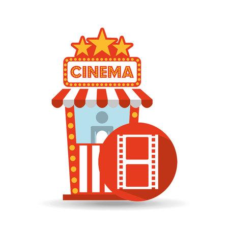 director chair: cinema movie ticket office. film strip graphic vector