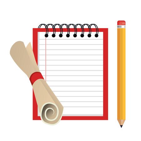 notebook school isolated icon vector illustration design