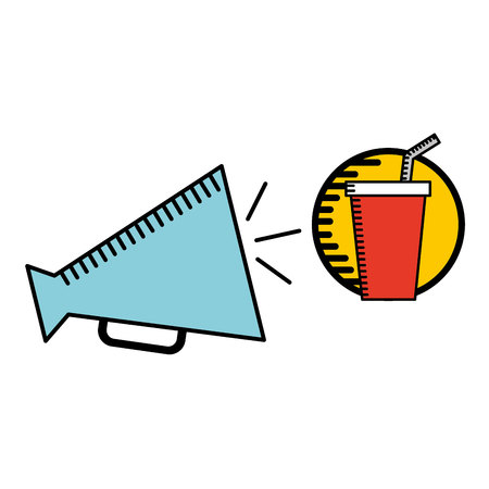 megaphone icon cinema movie icon vector illustration Illustration