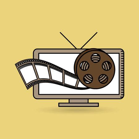tv online movie strip film design vector illustration