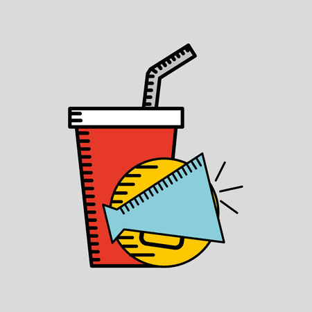 megaphone icon cinema movie icon vector illustration Ilustração