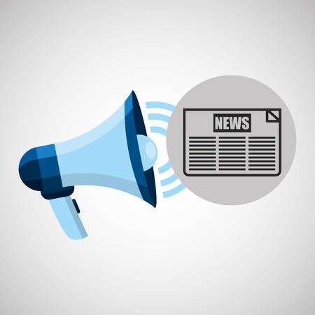 headline: megaphone concept news headline design vector