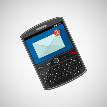 receive: mobile cellphone receive message icon vector