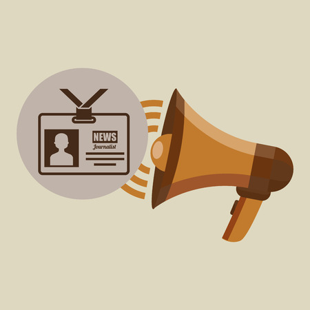 megaphone concept tv news design vector illustration