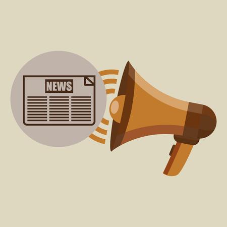 megaphone concept news headline design vector illustration