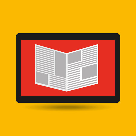 reading news: reading news smartphone icon vector illustration Illustration