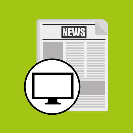 pc monitor: monitor pc news digital design vector illustration Illustration