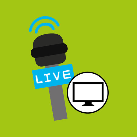 tv plasma digital news icon vector illustration