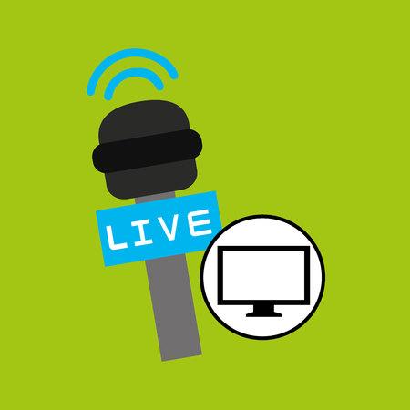 hdtv: tv plasma digital news icon vector illustration