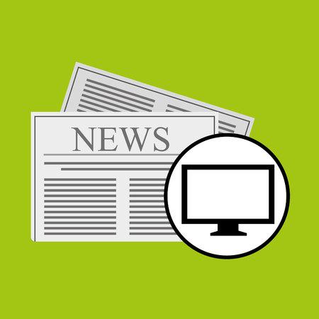 headline: concept digital news headline icon vector illustration