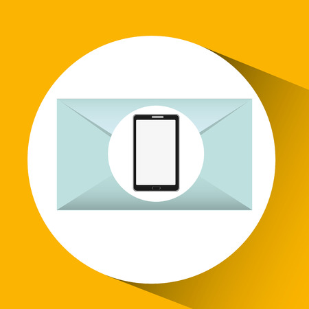 mobile cellphone email envelope icon vector Illustration