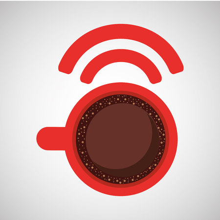 internet coffee wifi connection icon vector illustration eps 10