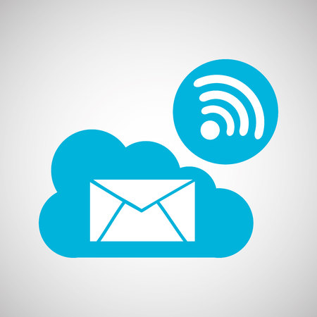 cloud email connection internet concept graphic vector illustration eps 10