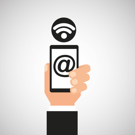 smartphone icon: smartphone mail wifi icon