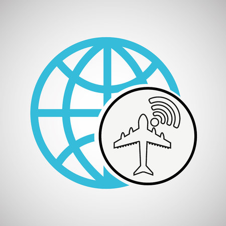 connection concept globe airport wifi