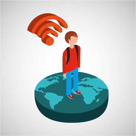 global connection wifi digital man