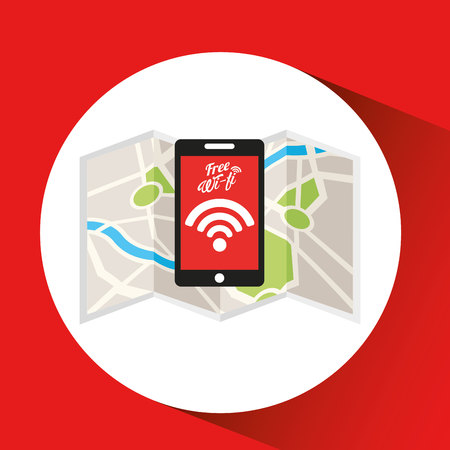 cell tower: smartphone internet wifi icon