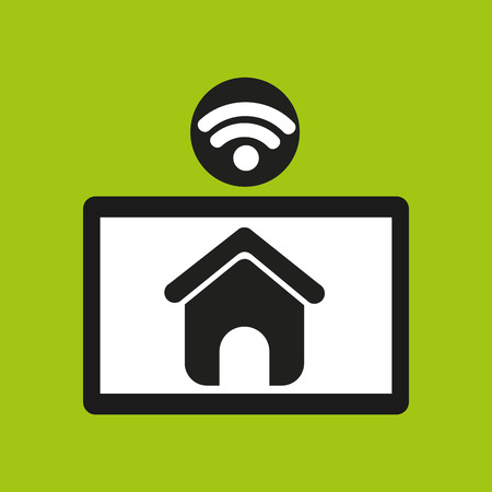 anywhere: hand hold tablet wifi web page icon