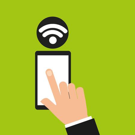 smartphone hand: hand holding smartphone internet wifi