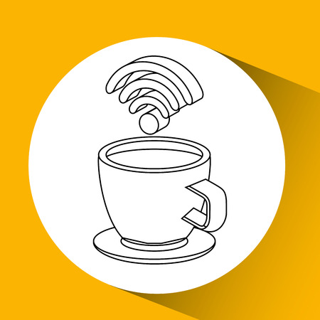 concept internet coffee icon vector illustration Illustration