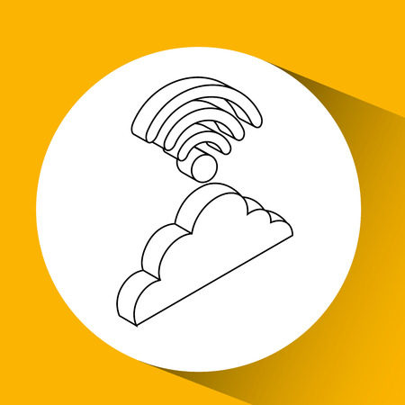 wireless connection: cloud wifi wireless connection design vector