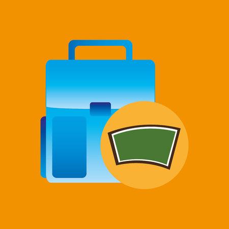 school board icon bag design vector illustration